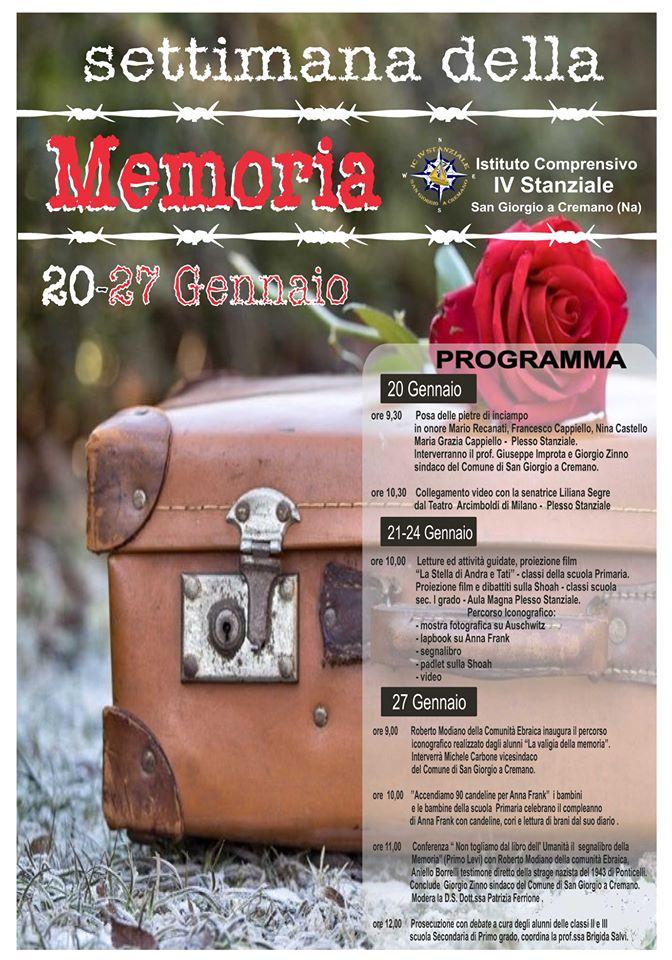 Giornata della memoria, nel napoletano il ricordo della Shoa