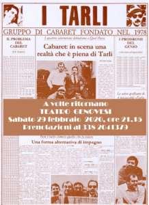 Doppio appuntamento al teatro Genovesi: cabaret dei Tarli ed