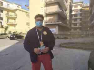 Compagnia San Pio: distribuite le mascherine al rione Mellus