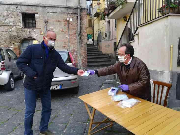 Comitato di Quartiere Centro Storico, distribuite le mascher