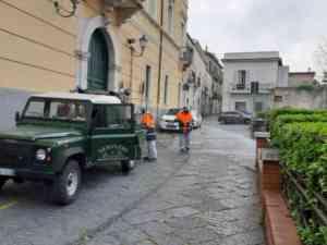 Benevento, nuovi interventi di sanificazione delle strade (F