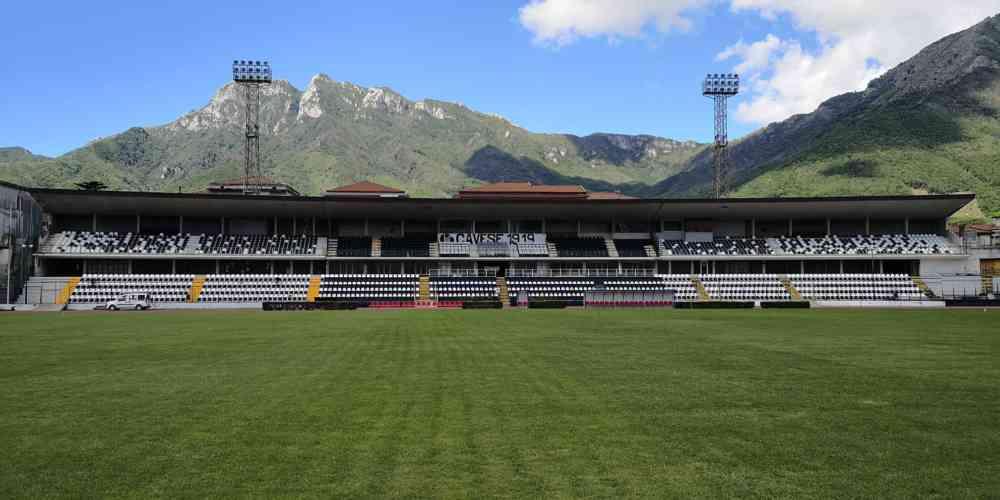 Cava de' Tirreni, prende forma il nuovo stadio Simonetta Lam