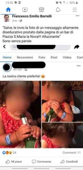 Borrelli pubblica le foto di una bimba, la mamma lo distrugg