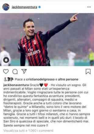 Ibra non basta, Bonaventura annuncia l'addio al Milan: la Strega può sognare