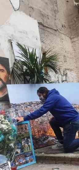 Lele Adani omaggia Maradona ai Quartieri Spagnoli