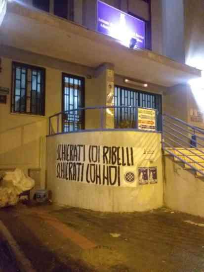 Striscione di Rete Studentesca a Nocera Inferiore, Angri e Sarno