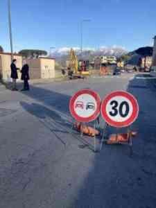 Nocera Superiore, proseguono i lavori di riqualificazione in via Petrosino (FOTO)