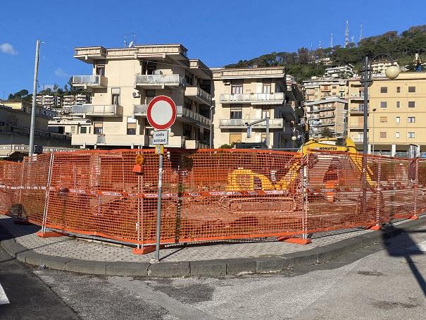 Torrione, da questa mattina al via i lavori in corso in piazzetta Serino